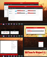 Red B Theme For Windows 8/8.1(Upload) by cu88