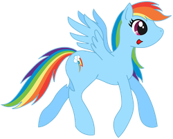 Rainbow Dash Vector by KirzStryfe