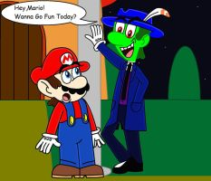 Mario Meets Mask/The Green Thunder by PrincessPuccadomiNyo