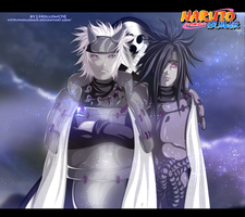 Rykudou sanin and Uchiha Madara by HollowCN
