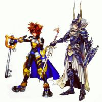 Dissidia - A Warrior and a Keyblader by todsen19