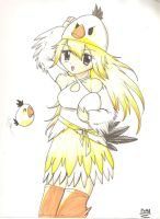 Angry Birds white bird girl by Neon-Juma