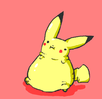 FAT PIKACHU by Exahall