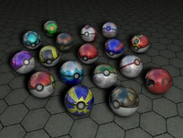 pokeball cluster by Cirque-D-Husky