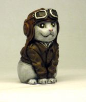Aviator Kitty-painted by Switchum