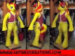 Sun Pony Shimmers well Fursuit Costume by AtalontheDeer