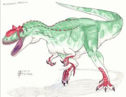 Allosaurus fragilis by CyRaptor