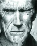 """Clint Eastwood"" December 30, 2011 by MondosArt"