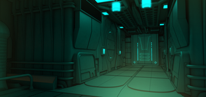 Ship Interior by aconnoll