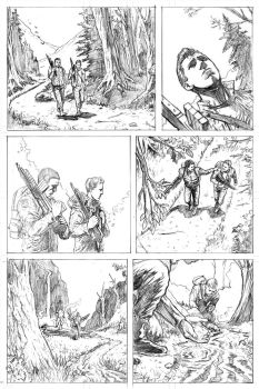 Deadshot Page 1 Pencils by craigcermak