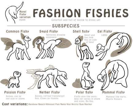 Fasion fishy variations (closed species by griffsnuff