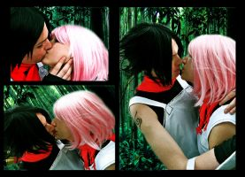 SasuSaku_after the mission by SoulOfPersephone