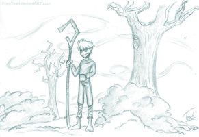 Jack Frost DP style sketch by FoxyTeah