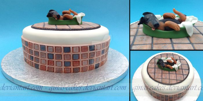 Sleepy Sylar Cake by ginas-cakes