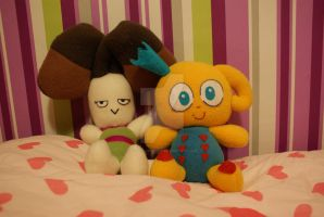 Otto and Pooky from Neverhood Game by PlushWorkshop