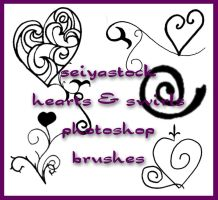 Hearts and Swirls brushes by seiyastock