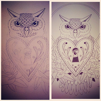 Owl Tattoo Design by wolfgutz