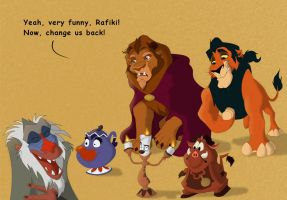 Beauty-and-the-Beast-as-Lion-King-characters-d by dogdudemax