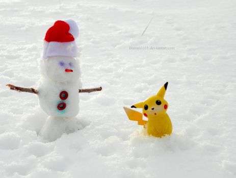 Do you wanna build a snowman, Pikachu? by Bimmi1111