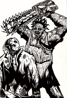 Jason vs Leatherface by Berty-J-A