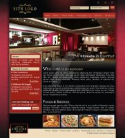 restaurants web layout by luqmanuzm