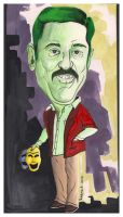 Caricature-Kamal Hassan by kp1986