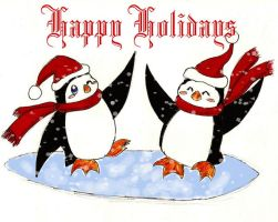 Happy Holiday Penguins '07 by darknight0x0