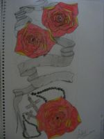 Roses, Rosary tattoo design by austate