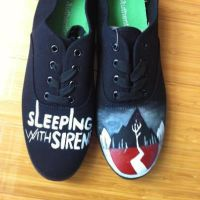Sleeping with Sirens Hand painted Shoes by Imsarahx