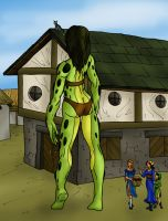 jealous of the green giantess by TriffRaff