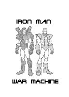 Iron Man and War Machine by Gundamu