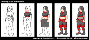 Anarchy Pixel Art Process 2015-01-25 by JohnColburn