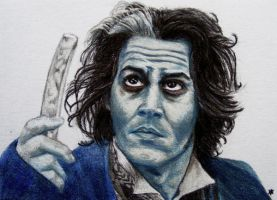 Sweeney Todd - ACEO by Sofera