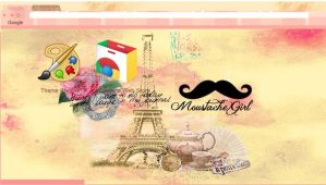 Moustache Girl - Theme Google Chrome by SriitaDeWatt