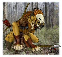 Yvx'inn- The Gnoll by DeannaRae