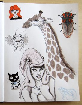 Sketchbook dump 4 by IgorSan