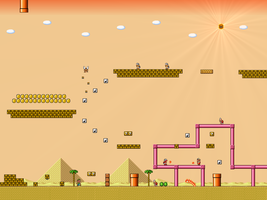 Super Mario Bros 3 - Desert by Metadraxis
