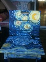 starry night chair by Princ3ssCuddl3s