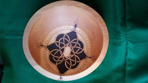 Celtic Compass Rose Bowl by ladyfireoak
