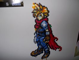 Cloud Strife Kingdom Hearts Perler by bahamut6666