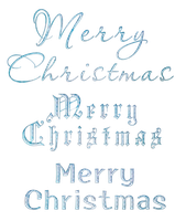Merry Christmas - English - Blue Frosty by Hermit-stock