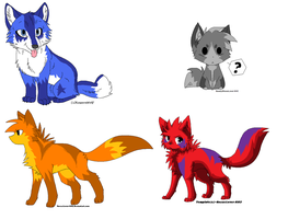 Wolf Adopts ::CLOSED:: by DappleFeather