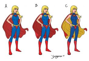 Super Girl costume designs A-C by RC-draws