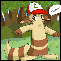Furret and Ash. by Moonikitti