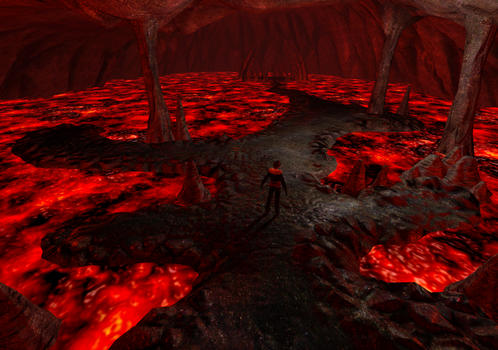 Fire cavern_04 by Shunsquall
