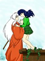 Inuyasha and Kagome by UsaBerryHime