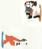 Gordon and Chell by arshana