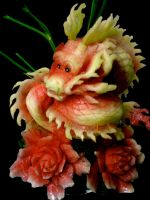 Fruit Carving Dragon by carvingnations