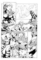 Red Sonja pencils by Marcio Abreu Inks by me! by silasd
