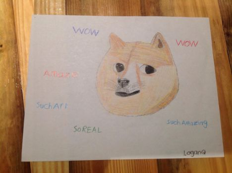 DOGE Drawing by LoganQ091601
